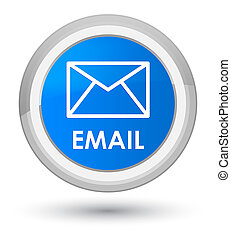 Email prime cyan blue round button
