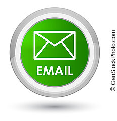 Email prime green round button