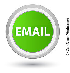 Email prime soft green round button