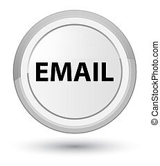 Email prime white round button
