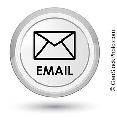 Email prime white round button