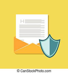 Email protection. Secure communication. Email antivirus