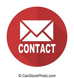 email red flat icon contact sign