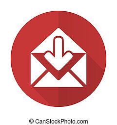 email red flat icon post message sign