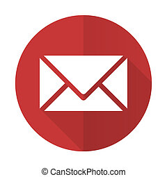 email red flat icon post sign