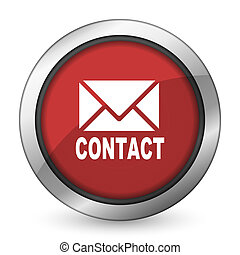 email red icon contact sign