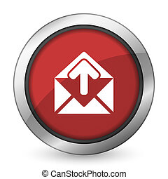 email red icon post message sign