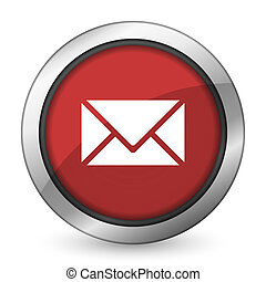 email red icon post sign