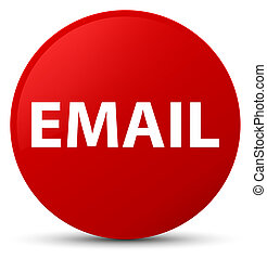Email red round button