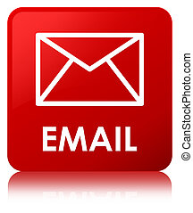 Email red square button