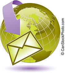 email, rodear, la tierra