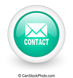 email round glossy web icon on white background
