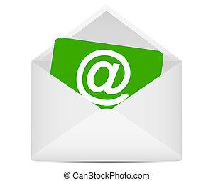 email, símbolo, em, envelope