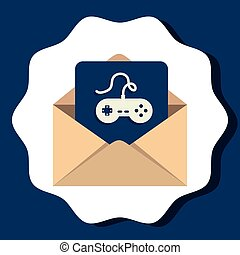 Email sending and electronic communications graphic design, vector illustration