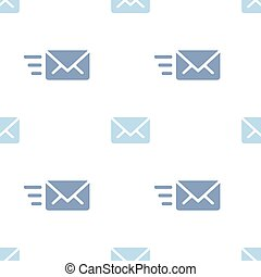 Email sending message seamless blue on white pattern background mail document message correspondence