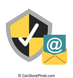 email shield protection check mark data security