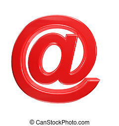 Email sign 3D isolated on white