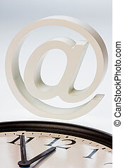 email sign and clock