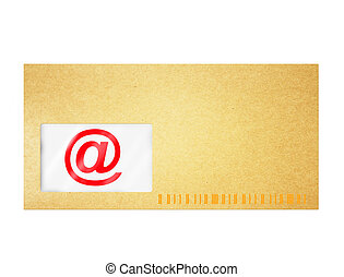 Email sign isolated on white