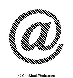Email sign on white.
