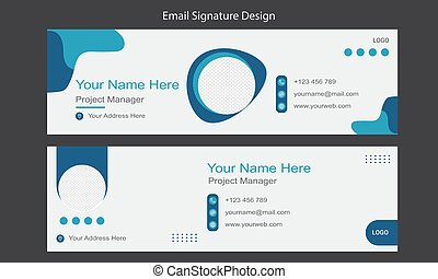 email signature design for business template. personal information interface.
