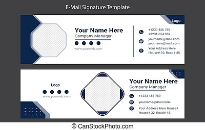 Email signature Template design and Creative Business Communication