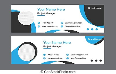 Email Signature Template Design For Professional Business