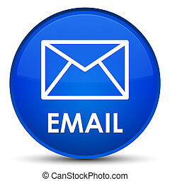 Email special blue round button