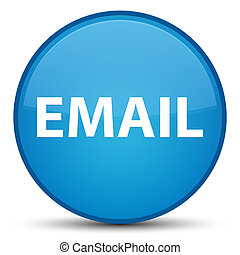 Email special cyan blue round button