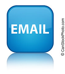 Email special cyan blue square button
