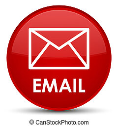 Email special red round button