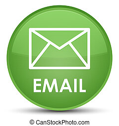 Email special soft green round button