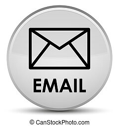 Email special white round button