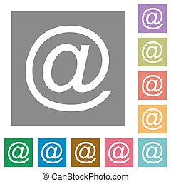 Email square flat icons