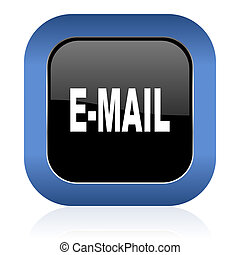 email square glossy icon