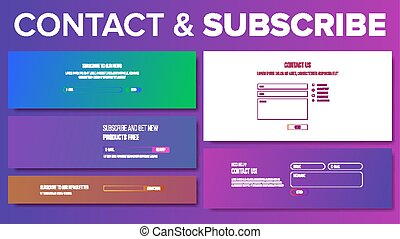 Email Subscribe Form Vector. For Website News Letter. E-Mail Marketing. Illustration
