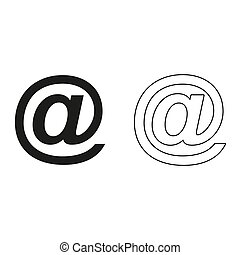 Email symbol - green vector icon