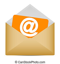 Email symbol in envelope