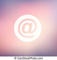 email symbol in flat style icon