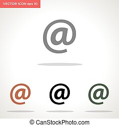 email symbol vector icon isolated on white background