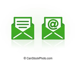 Email symbols on white background. Vector icons.