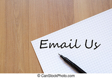 Email us write on notebook