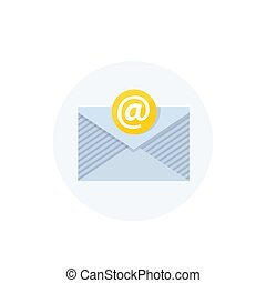 email vector icon, flat style
