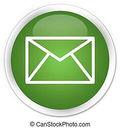email, verde, botón