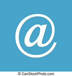 Email white icon