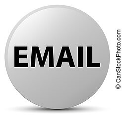 Email white round button
