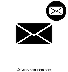Email -  white vector icon