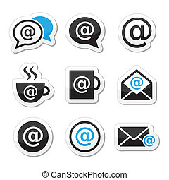 email , wifi, καφετέρια , internet απεικόνιση