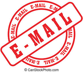 email word stamp in vector format