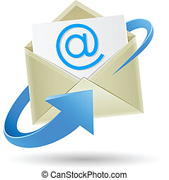 email wrapped arrow